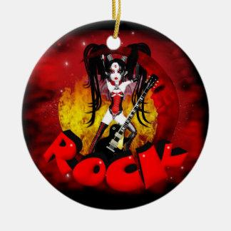 Rock - Oh La La Moon - Gothic Rock Vampire Ceramic Ornament