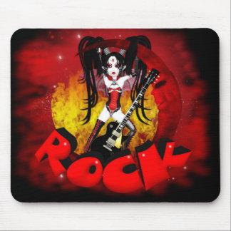 Rock - Oh La La Moon - Gothic Rock Vampire Mouse Pad