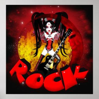 Rock - Oh La La Moon - Gothic Rock Vampire Poster