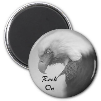 Rock On 2 Inch Round Magnet