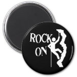 Rock On 2 Inch Round Magnet