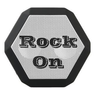 Rock on black bluetooth speaker