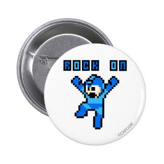 Rock On Pinback Button