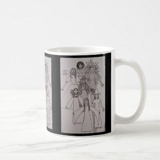 Rock On by Audi, Cartoon Dolls Coffee Mug