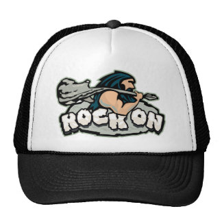 Rock On Caveman Trucker Hat