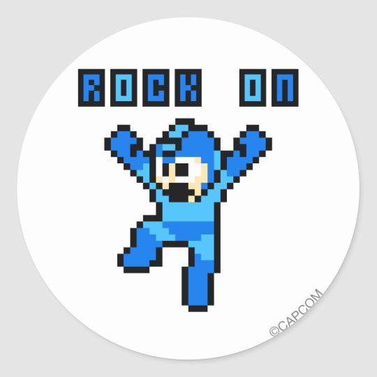 Rock On Classic Round Sticker