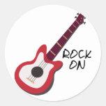 Rock On Classic Round Sticker
