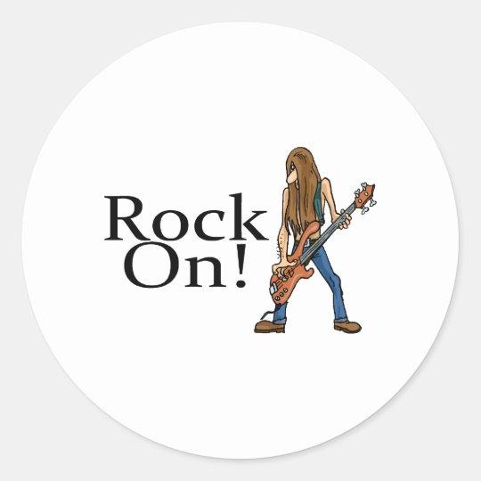 Rock On! Classic Round Sticker