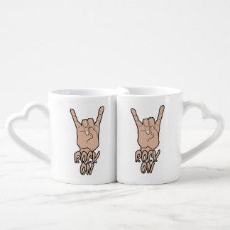ROCK ON custom couple's mugs