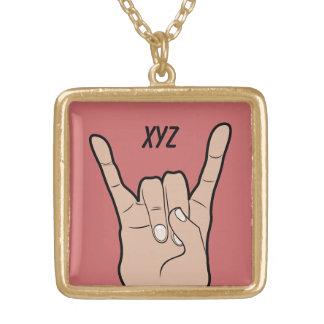ROCK ON custom monogram necklace