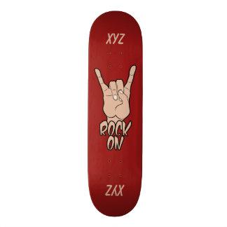 ROCK ON custom monogram skateboards
