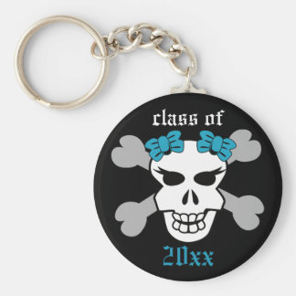 Rock on! Customized Graduation Keychain (aqua)