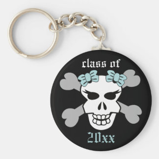 Rock on! Customized Graduation Keychain (ice blue)