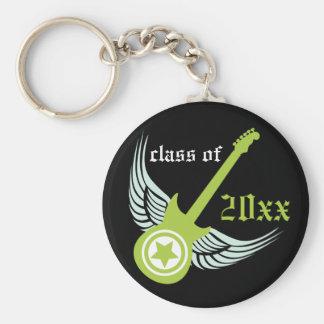 Rock on! Customized Graduation Keychain (lime)