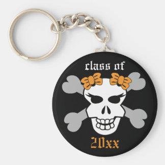Rock on! Customized Graduation Keychain (orange)