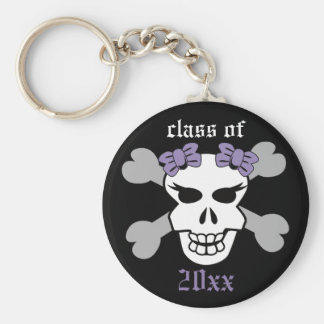 Rock on! Customized Graduation Keychain (purple)