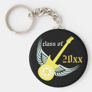 Rock on! Customized Graduation Keychain (yellow)