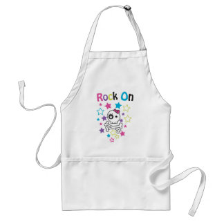 ROCK ON CUTE SKULLS AND BONES FOR GIRLS ADULT APRON