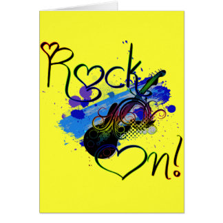 Rock On (dark) Card