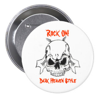 Rock On! Dark Heaven Style Pinback Buttons