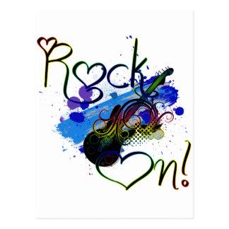 Rock On (dark) Postcard