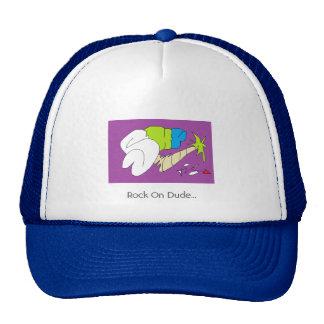 Rock On Dude Trucker Hat
