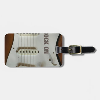 Rock On Electric Guitar Travel Bag Tags