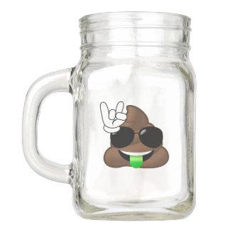 Rock On Emoji Poop Mason Jar