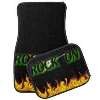 ROCK ON FLAMES CAR FLOOR MAT