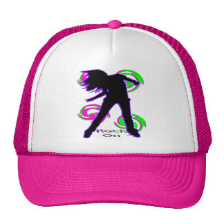 Rock On Girl T-Shirts & Gifts Hat