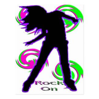 Rock On Girl T-Shirts & Gifts Postcard