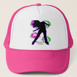Rock On Girl T-Shirts & Gifts Trucker Hat
