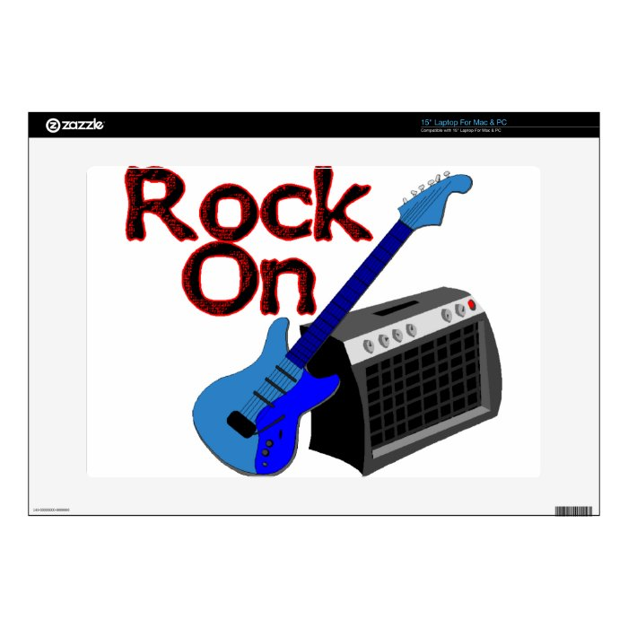 "Rock On Guitar & Amp 15"" Laptop Decals"
