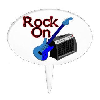 Rock On Guitar & Amp Cake Topper