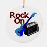 Rock On Guitar & Amp Ceramic Ornament