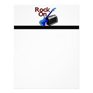 Rock On Guitar & Amp Letterhead