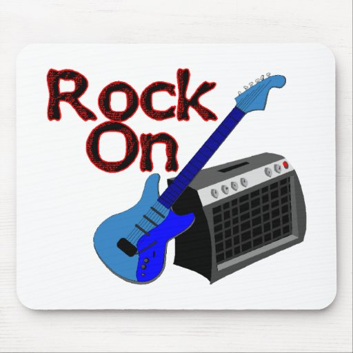 Rock On Guitar & Amp Mouse Pad