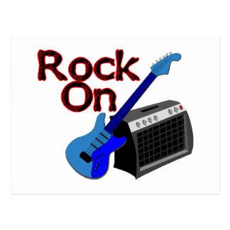 Rock On Guitar & Amp Postcard