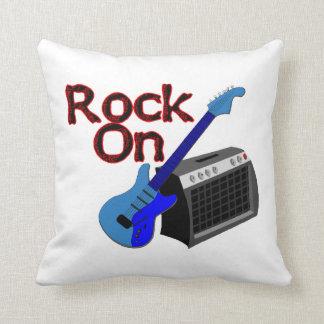 Rock On Guitar & Amp Throw Pillow