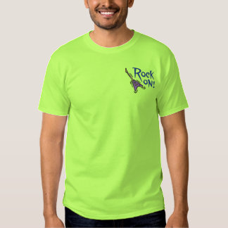 Rock On Guitar Embroidered T-Shirt