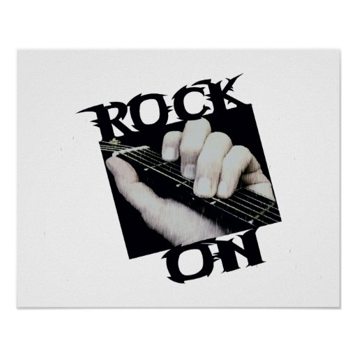 Rock On Guitar Player Poster