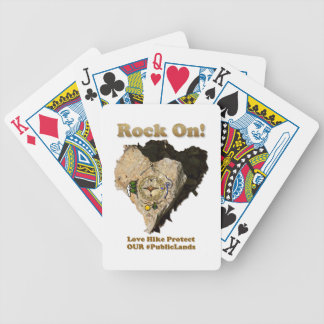 ROCK ON! Love Hike Protect Our Public Lands Bicycle Playing Cards