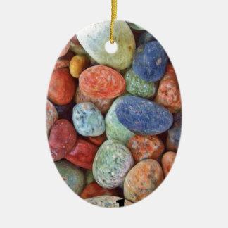 Rock On Multicolored Rocks Christmas Ornament