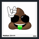"""Rock On Poop Emoji Wall Decal<br><div class=""""desc"""">Decorate your walls with our fun emojis!  Rock on!</div>"""