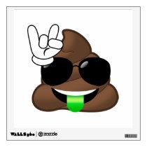 Rock On Poop Emoji Wall Decal