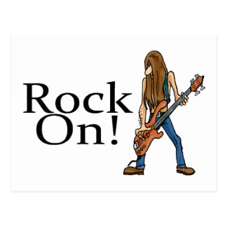 Rock On Postcard