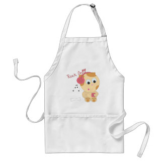 Rock on pup adult apron