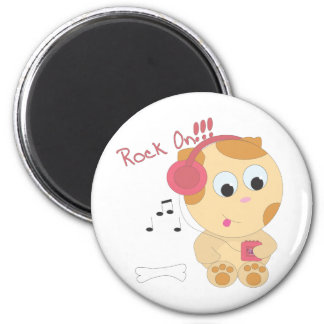 Rock on pup magnet