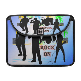 "Rock On - Rock n' Roll Band 13"" Rickshaw Flap Slee MacBook Pro Sleeve"