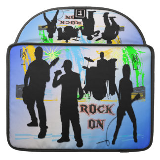 "Rock On - Rock n' Roll Band 15"" Rickshaw Flap Slee Sleeve For MacBook Pro"